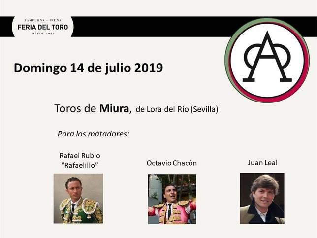 Día 14, Rafaelillo, Octavio Chacón y Juan Leal Feria del Toro
