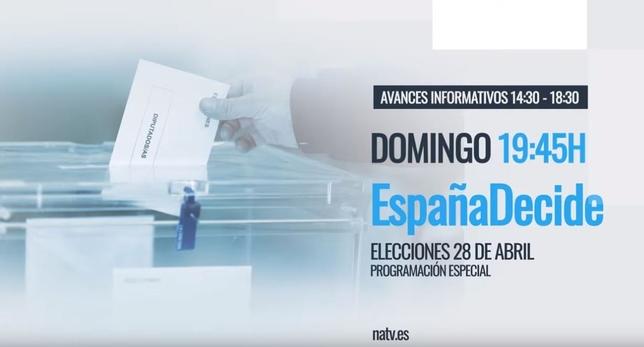 Navarra Televisión se vuelca con la cita electoral del 28-A