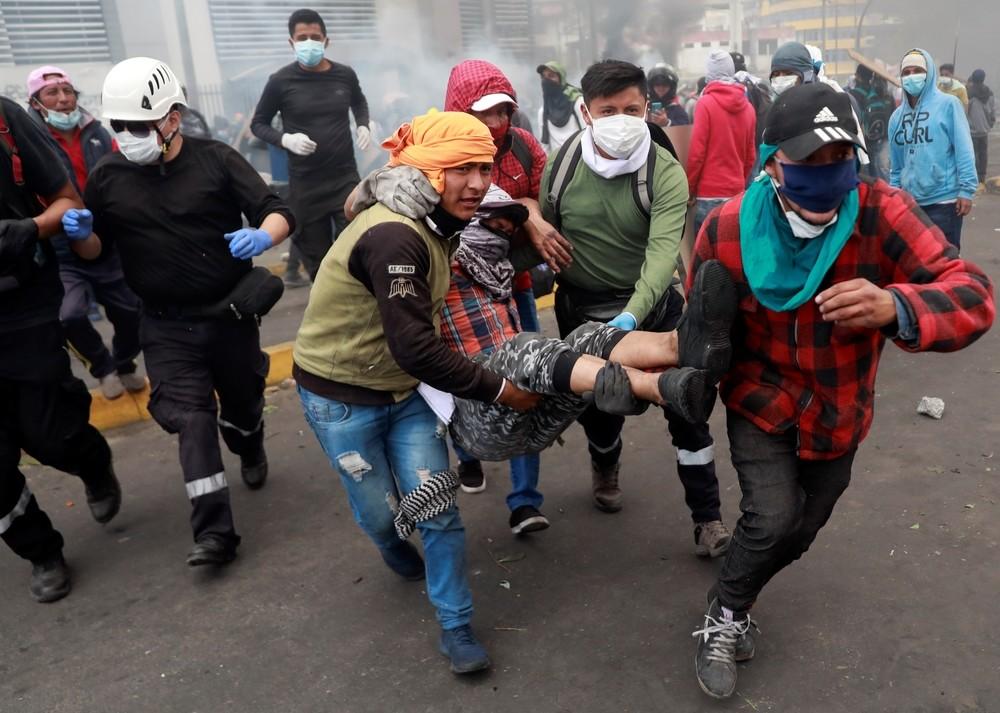 Quito amanece con el centro bloqueado