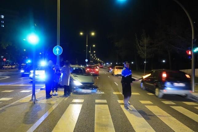 Un accidente en la avenida de Salamanca se salda sin heridos