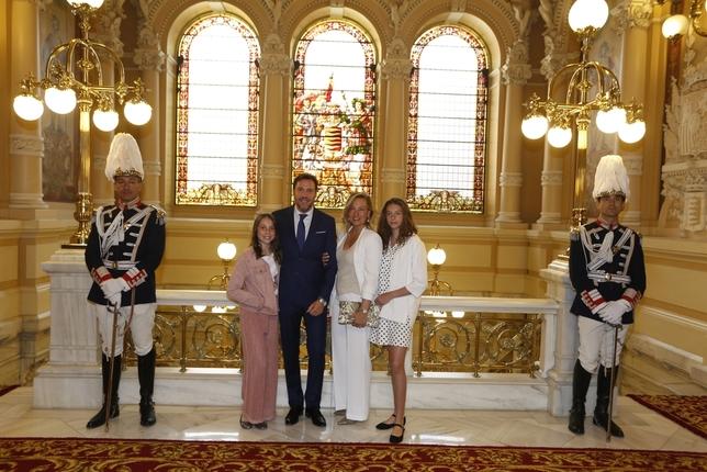 Momentos antes de la toma de posesión de Óscar Puente como alcalde de Valladolid