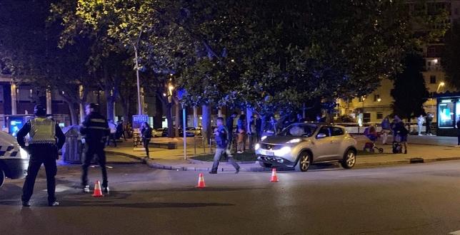 Cinco heridos en un accidente en la plaza de España Ignacio Barrado