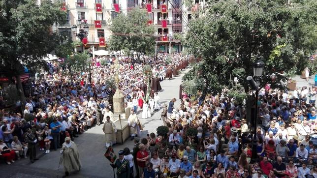 La procesión del Corpus ya se ha adueñado de Zocodover