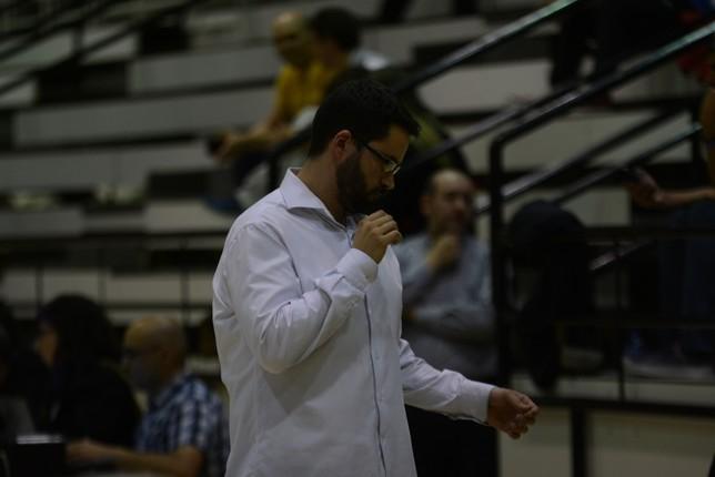 Xabi Jiménez, técnico de Basket Navarra. Iñaki Martínez