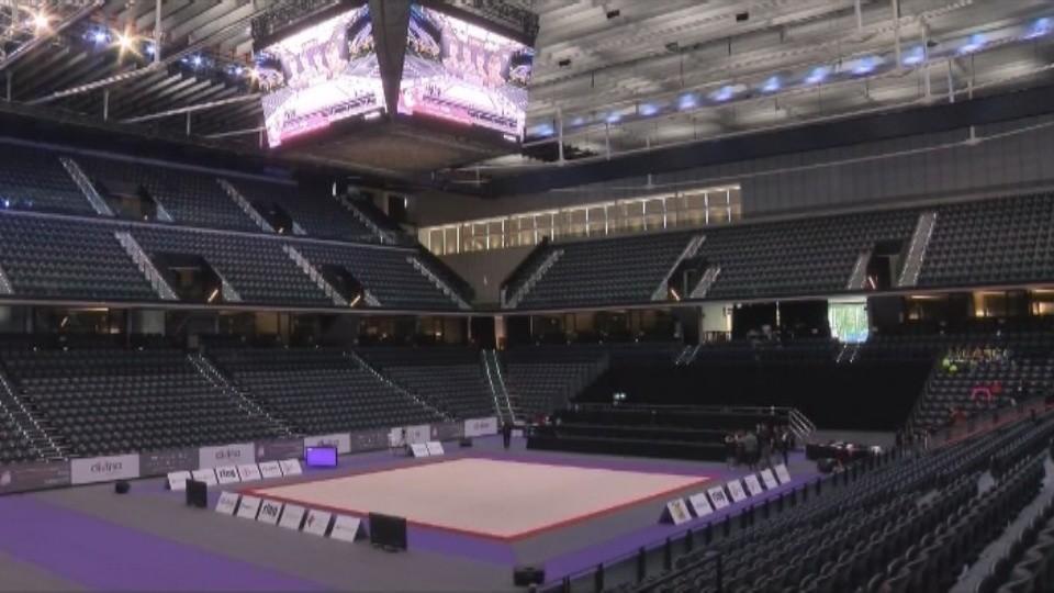 3.000 gimnastas compiten cinco días en el Navarra Arena