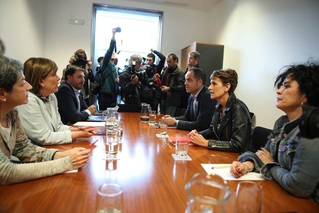 Chivite se ratifica ante Barkos: ni EH Bildu ni Navarra Suma