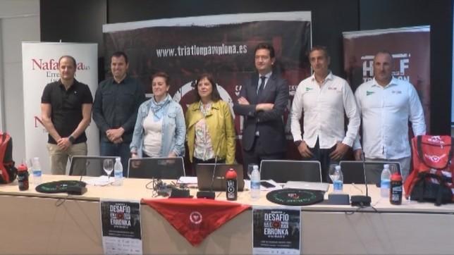 Esta mañana se ha presentado la Half Triathlon Pamplona NATV