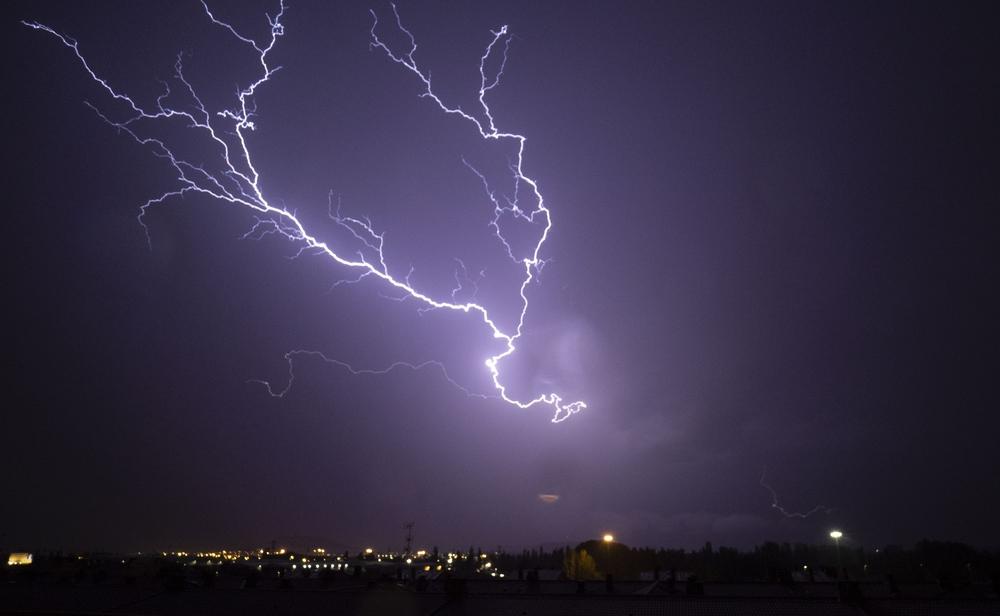 Rayos durante la tormenta.