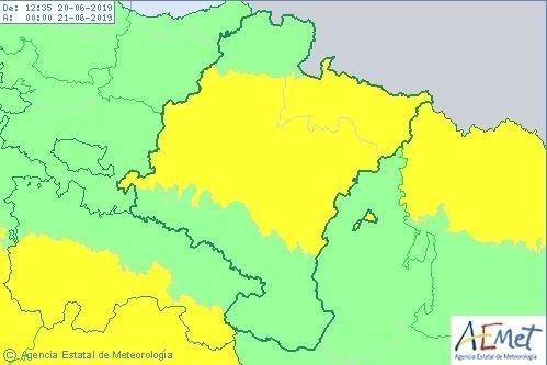 Aviso amarillo en Navarra por fuertes lluvias y tormentas Agencia Estatal de Meteorología