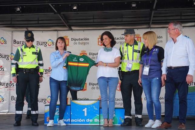 El segundo maillot fue para el Centro Nacional de Educación Vial. Íñigo Alonso