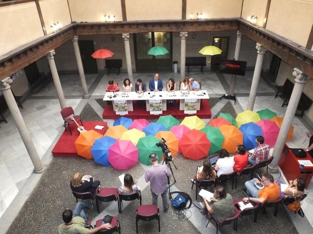 Presentacion de Femuka 2019 en el patio de columnas de la Diputación.