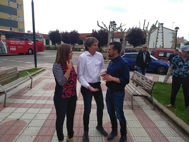 Luis Tudanca, de campaña en Soria
