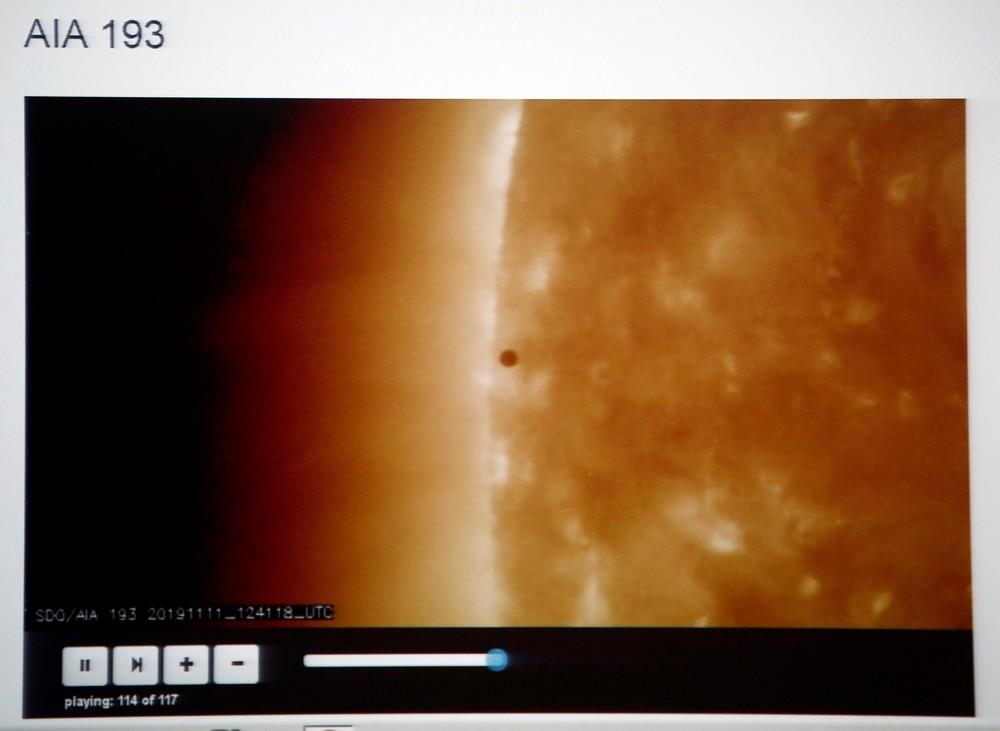 El insólito viaje de Mercurio frente al Sol