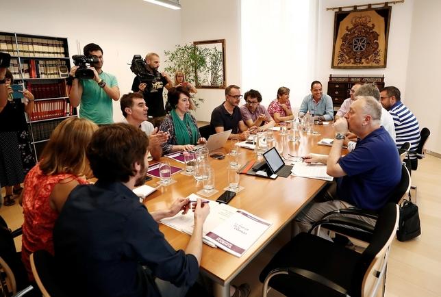 PSN, Geroa Bai, Podemos e I-E, convencidos de cerrar acuerdo Jesús Diges