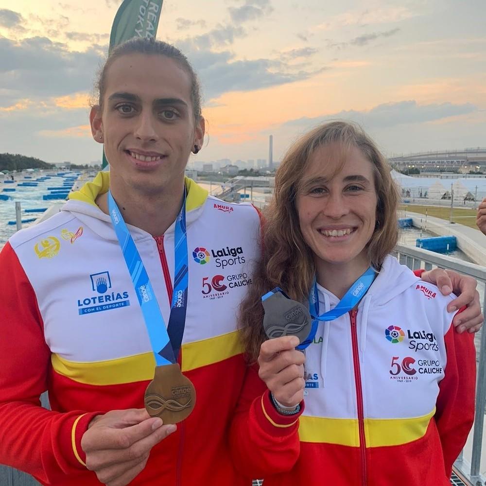 David Llorente, oro en el test olímpico en el canal de Tokio