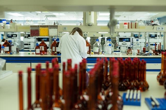 Interior de la planta de GSK en Aranda de Duero.