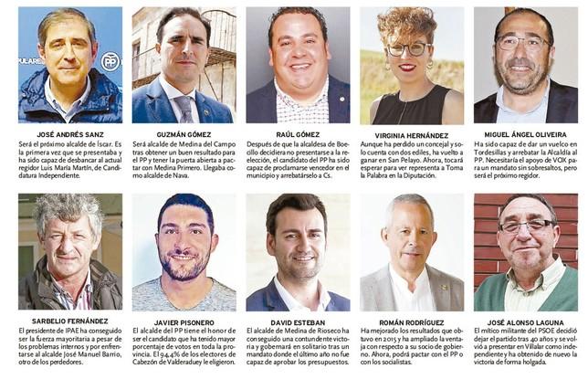 Veinte protagonistas del 26-M en la provincia