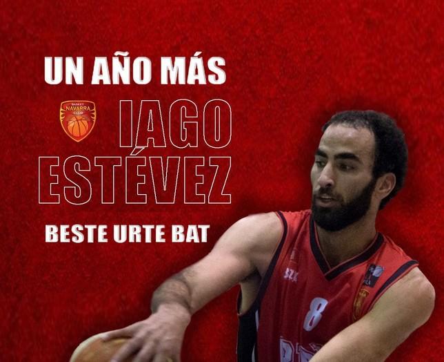 Iago Estévez continuará en Basket Navarra