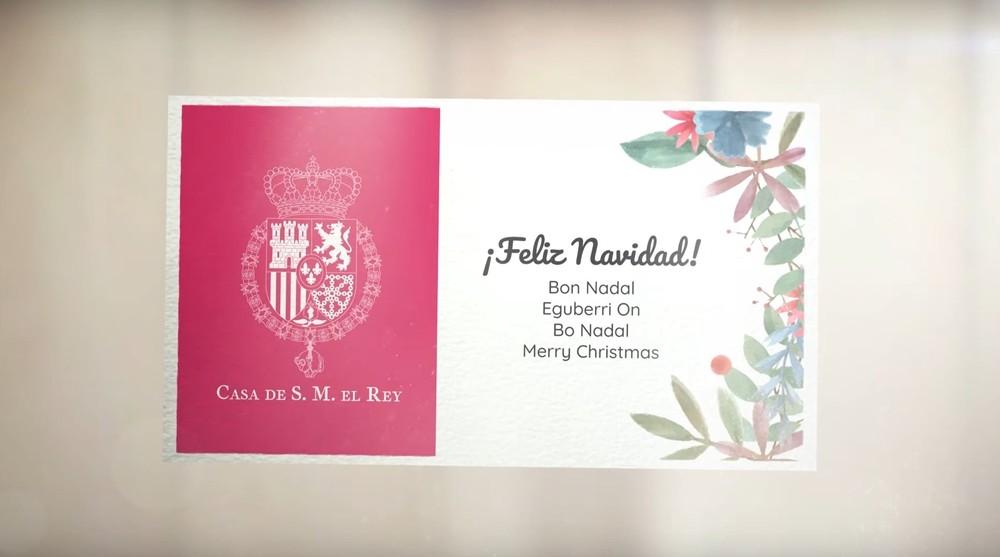 La felicitación navideña de la Casa Real