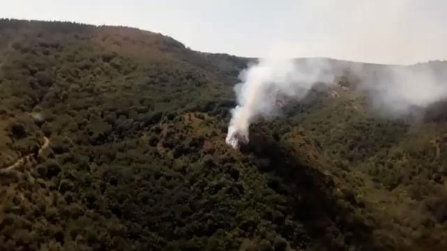 Controlado un incendio forestal en la sierra de Lóquiz