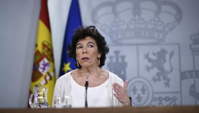 Celaá admite que el PSN no ha pactado la abstención de Bildu