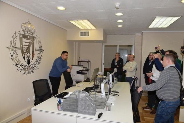 Así es la oficina del Pucela en Madrid