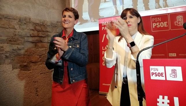 Maite Esporrín y María Chivite Europa Press