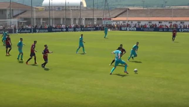 Osasuna vence a su filial en el partido de entrenamiento