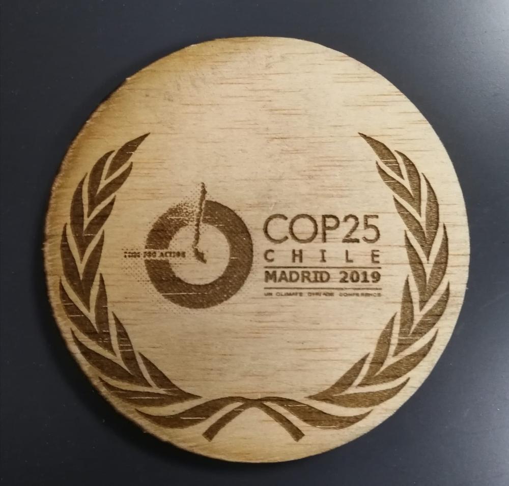 Las medallas de la Cumbre COP25, hechas en Soria