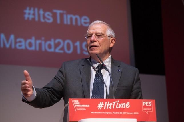 Borrell liderará la lista del PSOE a las elecciones europeas EVA ERCOLANESE