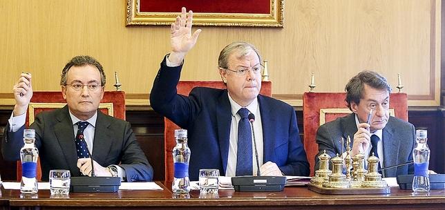 Silván, en enero de 2019, apoyando la moción de reprobación a Puente. Ical