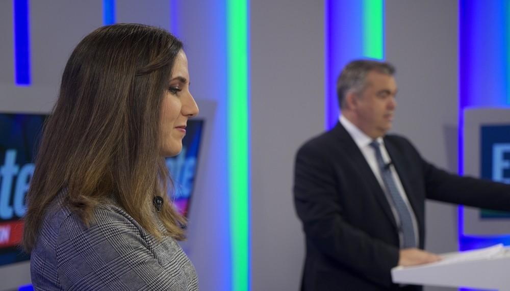 El debate electoral de Navarra TV, en imágenes