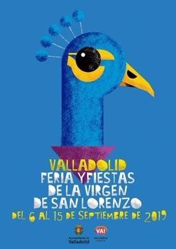 Un pavo real para el cartel de las fiestas de Valladolid