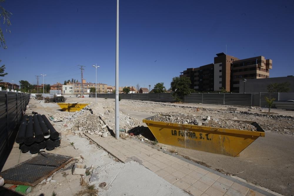Obras en la calle Andrómeda