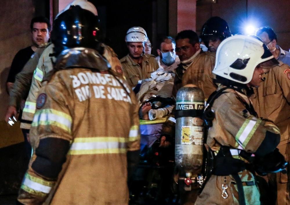 Resultado de imagen para Incendio en un hospital de Rio de Janeiro: hay al menos once muertos