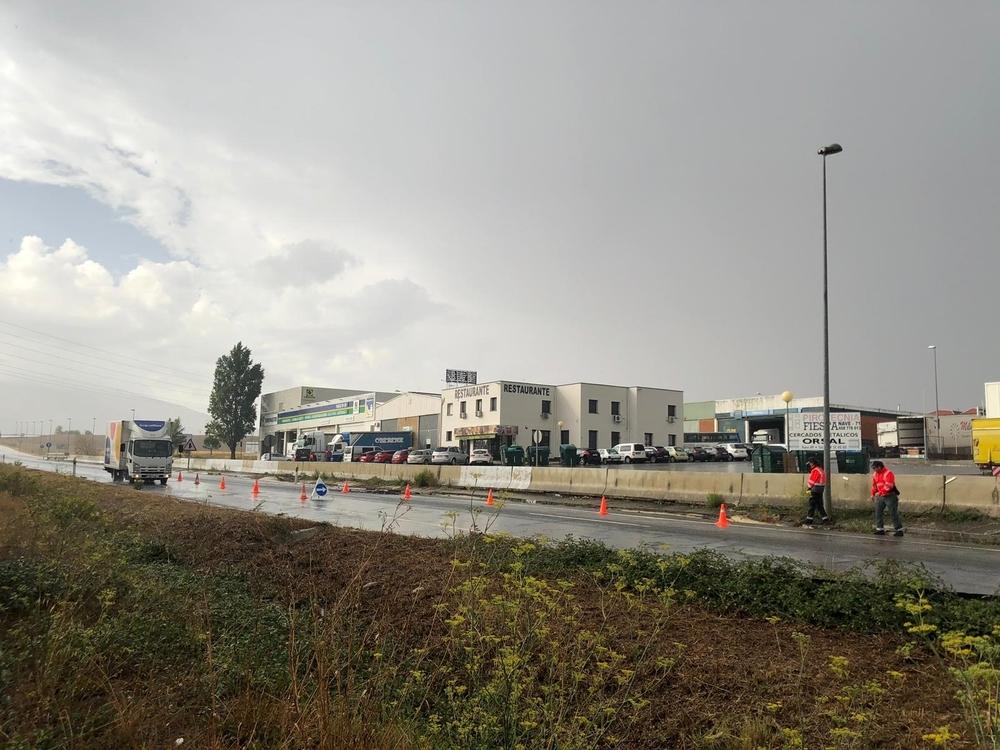 Coletazos de DANA: una fuerte tromba de agua sacude Pamplona