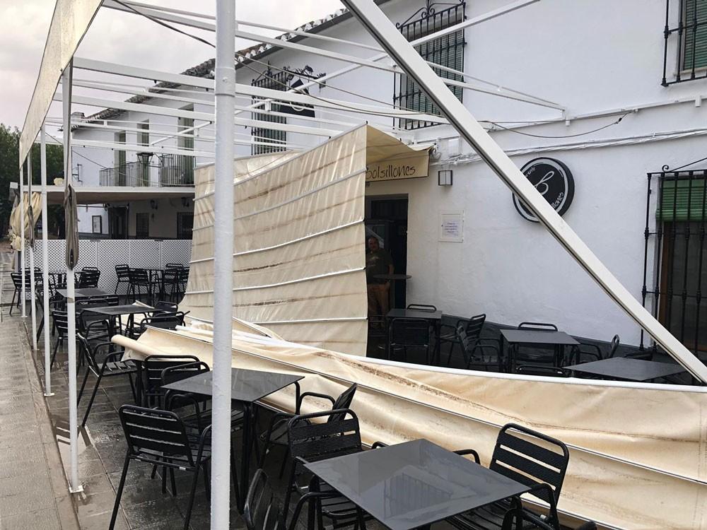La tormenta del lunes también provocó daños en Almagro
