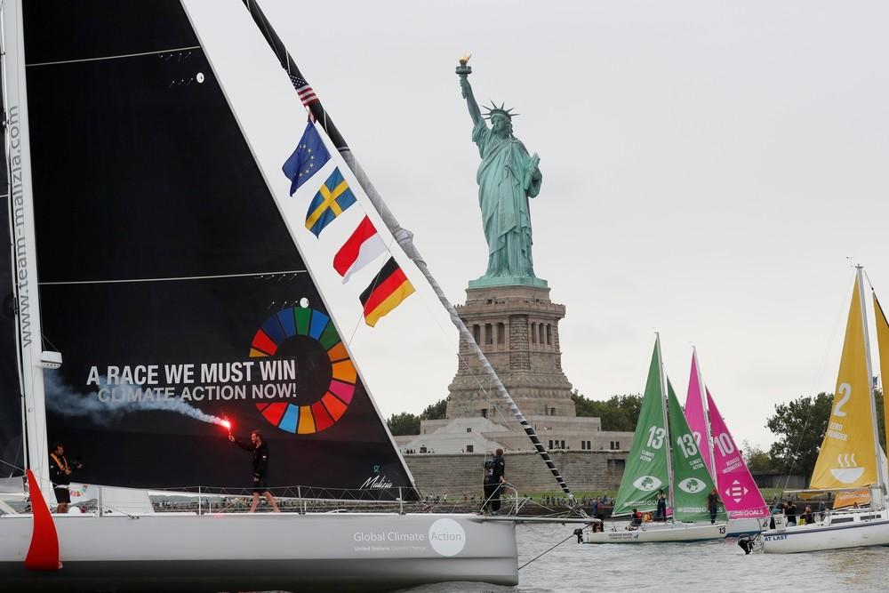 El activismo climático de Thunberg desembarca en Nueva York