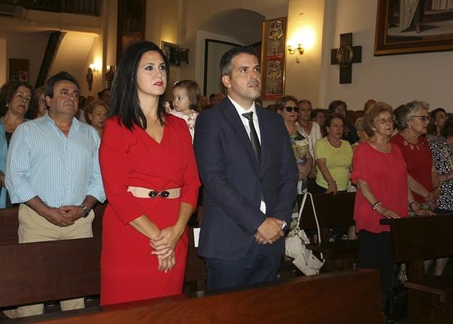 El imaginero José María Ruiz Montes, en la parroquia.