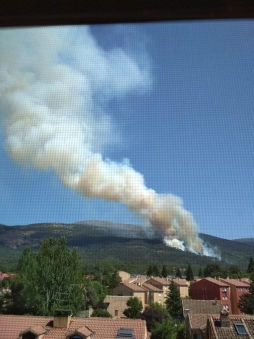 El incendio de La Granja visto por los agentes forestales