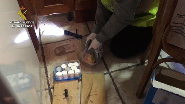 Material incautado a los narcotraficantes.  DB