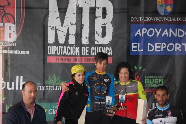 Pérez y Sánchez ganan la segunda prueba del Circuito de MTB