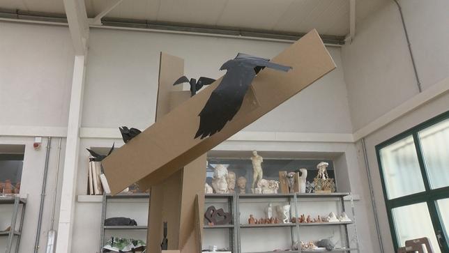 Una escultura en homenaje a los accidentes laborales