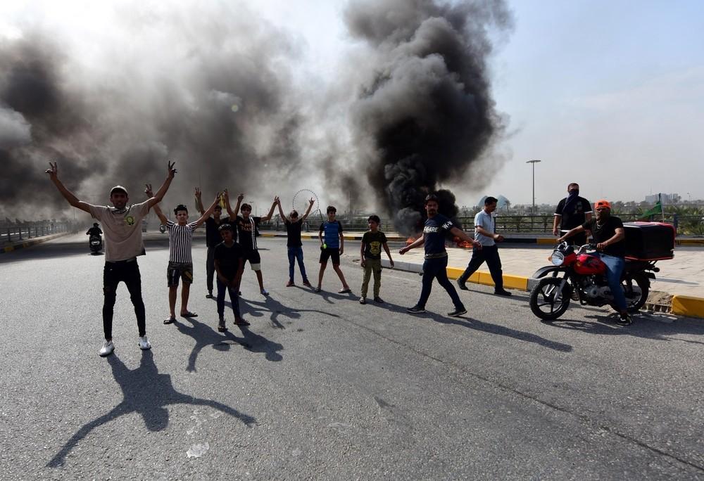 Once muertos en enfrentamientos con la policía en Irak