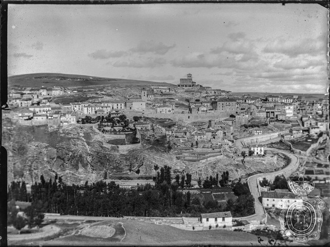 Vista panorámica de Sepúlveda, en 1905.