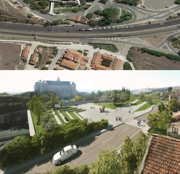 Vista actual y futura de la autovía a su paso por Simancas.