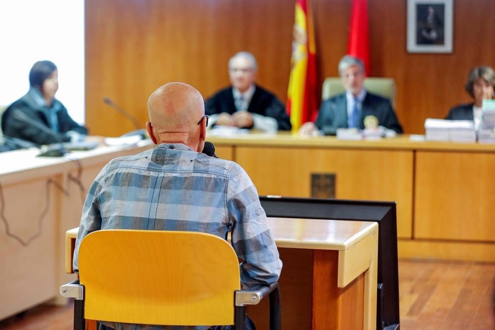 Pedro Luis Gallego, durante su declaración en la Audiencia Provincial de Madrid.