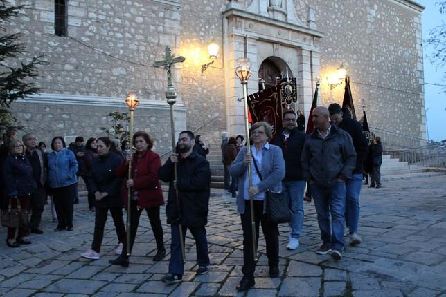 Vía Crucis en Tarancón con el Santo Crucifijo del Convento