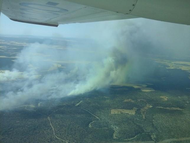 182 personas trabajan en un incendio en Barchín del Hoyo