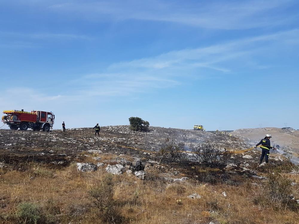 Sofocado un incendio en La Nuez de Arriba